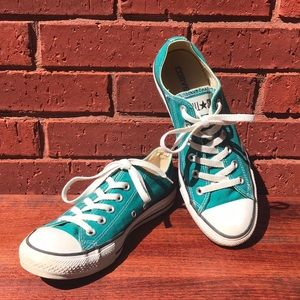 Teal Classic Converse All Star Lace Up Sneakers